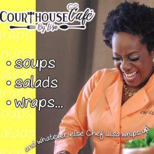 Lisa Heidelberg cooking amazing food in Erie, PA